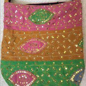 ✅4-20$ boho sequined bag crossbody purse colorful